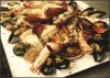 Platter of Oven Baked Seafood in White Wine