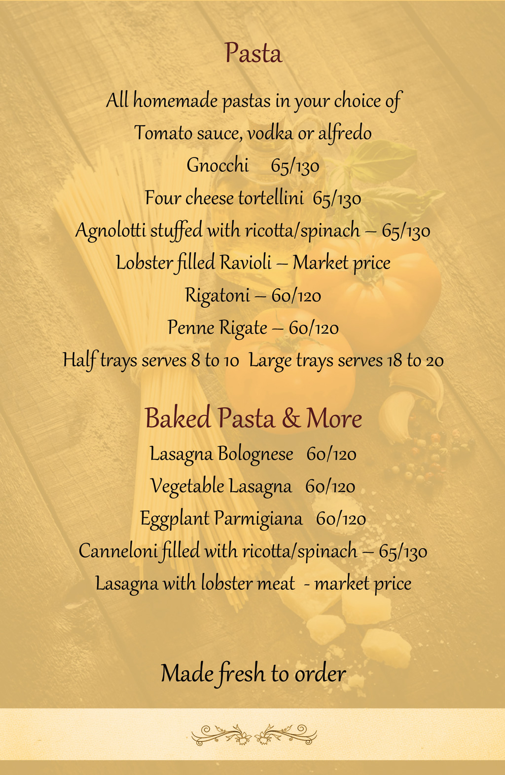 Catering Menu Page 4