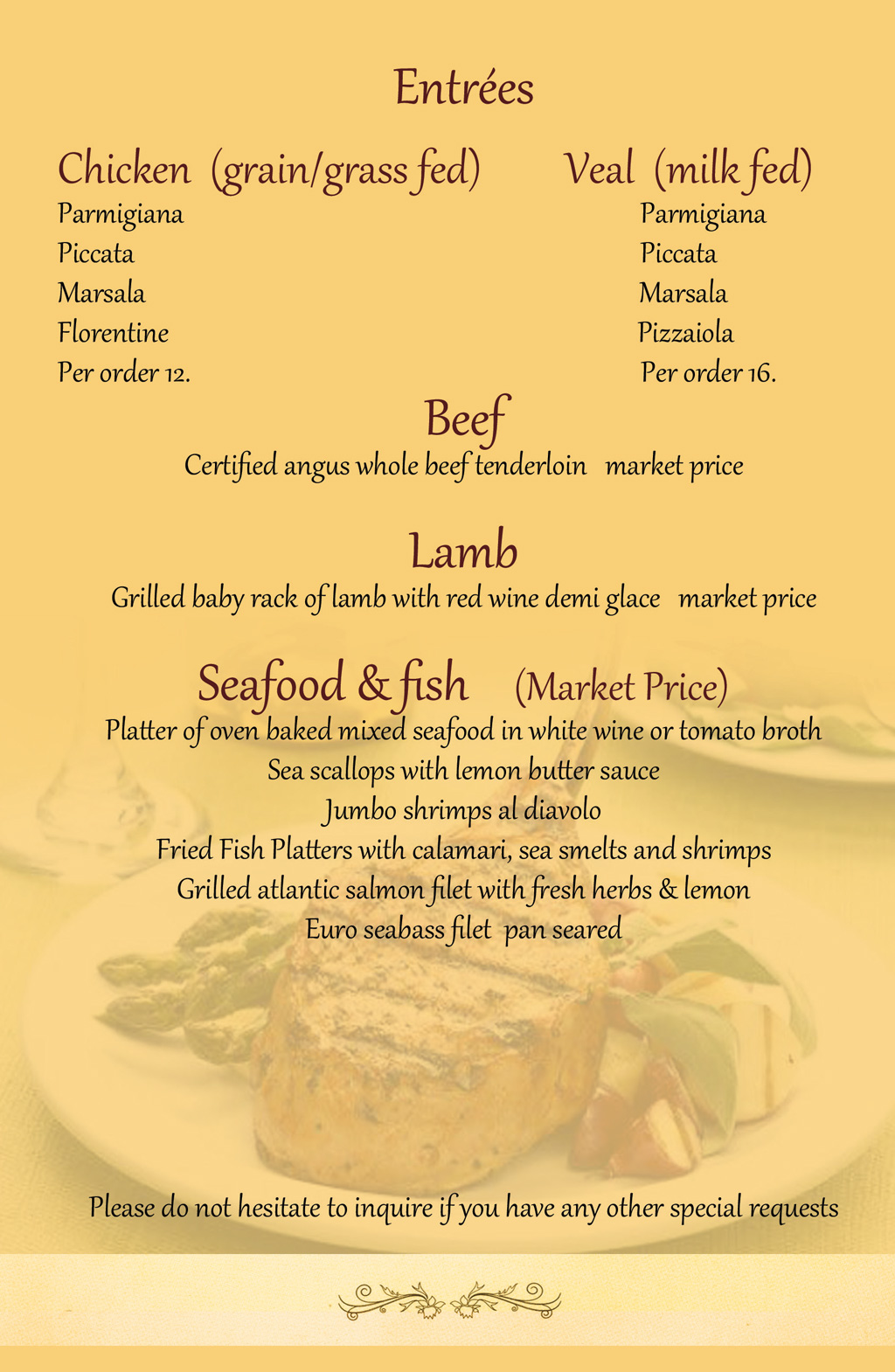 Catering Menu Page 5